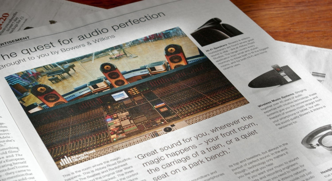 The advertorial on the New Review Magazine
